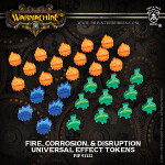 Universal Effect Tokens: Fire / Corrosion / Disruption