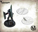 Malifaux Streets base tops - 40mm (2 base tops)