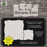 Dry-Erase Dungeon Tiles: Combo Pack - 10 inch and 5 inch Interlocking Tiles (White)