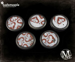 Malifaux Guild base tops - 30mm (5)
