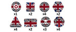 Team Yankee Token Set: British (TTK04)