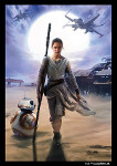 Star Wars The Force Awakens: Rey Art Sleeves