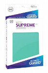 Ultimate Guard Supreme UX Sleeves Standard Size: Matte Turquoise (80)