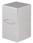 Satin Tower Deck Box - Metallic Silver