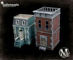 Malifaux Stonewall Place Modular Houses (with Window Glass)