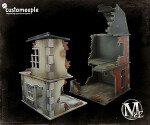 Malifaux Ruined Millbank Street Modular Houses