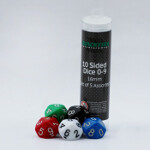 Blackfire Dice - 16mm Assorted D10 Dice 0-9 (5 Dice)