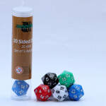 Blackfire Dice - 20mm Assorted D20 Dice (5 Dice)