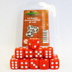 Blackfire Dice - 16mm D6 Dice Set - Red (15 Dice)