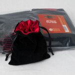 Blackfire Velvet Dice Bag with Red Satin Lining