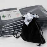 Blackfire Velvet Dice Bag with White Satin Lining