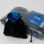 Blackfire Velvet Dice Bag with Blue Satin Lining
