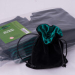 Blackfire Velvet Dice Bag with Green Satin Lining