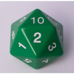 Blackfire Dice - D20 Countdown Die 55 mm - Green