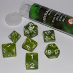 Blackfire Dice - 16mm Role Playing Dice Set - Emerald Green (7 Dice)