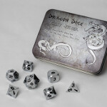 Blackfire Dice - Metal Dice Set - Silver (7 Dice)