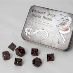Blackfire Dice - Metal Dice Set - Black (7 Dice)