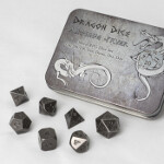 Blackfire Dice - Metal Dice Set - Antique Silver (7 Dice)