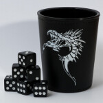 Blackfire Dice Cup - Black /w Dragon Emblem