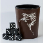 Blackfire Dice Cup - Brown /w Dragon Emblem