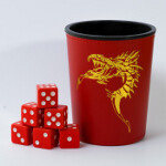 Blackfire Dice Cup - Red /w Dragon Emblem