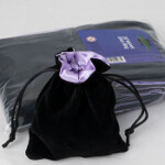 Blackfire Velvet Dice Bag with Purple Satin Lining