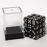 Blackfire Dice Cube - 12mm D6 36 Dice Set - Opaque Black