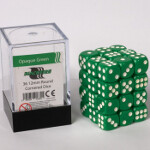 Blackfire Dice Cube - 12mm D6 36 Dice Set - Opaque Green