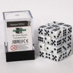 Blackfire Dice Cube - 12mm D6 36 Dice Set - Opaque White
