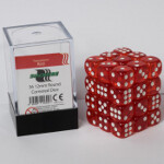 Blackfire Dice Cube - 12mm D6 36 Dice Set - Transparent Red