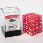 Blackfire Dice Cube - 12mm D6 36 Dice Set - Transparent Watermelon Red