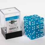Blackfire Dice Cube - 12mm D6 36 Dice Set - Transparent Light Blue
