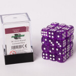 Blackfire Dice Cube - 12mm D6 36 Dice Set - Transparent Violet