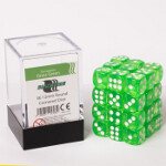Blackfire Dice Cube - 12mm D6 36 Dice Set - Transparent Grass Green