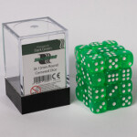 Blackfire Dice Cube - 12mm D6 36 Dice Set - Transparent Dark Green