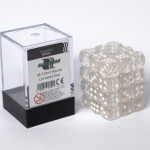 Blackfire Dice Cube - 12mm D6 36 Dice Set - Transparent White