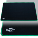 Blackfire Playmat - Black with Green Stitching