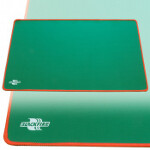 Blackfire Playmat - Green with Red Stitching