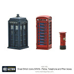 Great British Icons - Police, Telephone and Pillar boxes