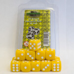 Blackfire Dice - 16mm D6 Dice Set - Yellow (15 Dice)