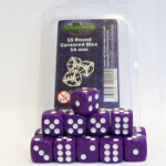 Blackfire Dice - 16mm D6 Dice Set - Purple (15 Dice)