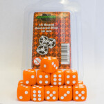 Blackfire Dice - 16mm D6 Dice Set - Orange (15 Dice)
