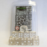 Blackfire Dice - 16mm D6 Dice Set - Transparent White (15 Dice)
