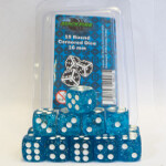Blackfire Dice - 16mm D6 Dice Set - Glitter Blue (15 Dice)