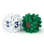 Blackfire Constructible Dice - Clear & Green