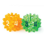 Blackfire Constructible Dice - Light Green & Orange