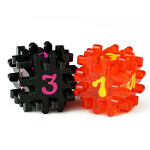 Blackfire Constructible Dice - Black & Red