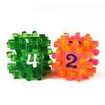 Blackfire Constructible Dice - Light Red & Green