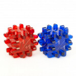 Blackfire Constructible Modificator-Dice - Blue & Red (2 Pack)