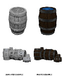WizKids Unpainted Miniatures: Barrel & Pile of Barrels